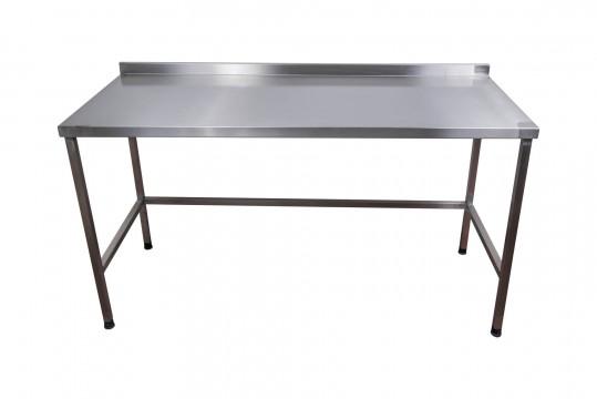 שולחן גבוה מנירוסטה לעבודה